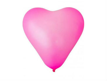 Unprinted Balloons, Latex, Heart Shape, 25cm